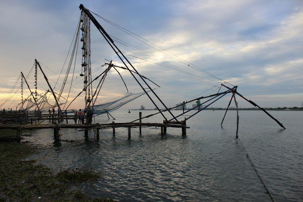 Kerala India - Chinese Fishing Nets