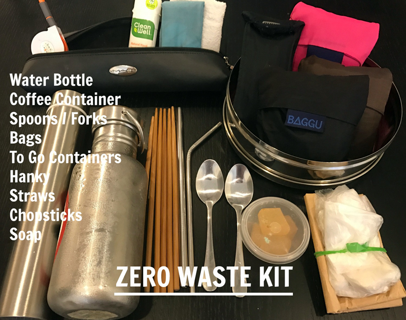 Around Town Zero Waste Kit - Minimizing Plastic waste
