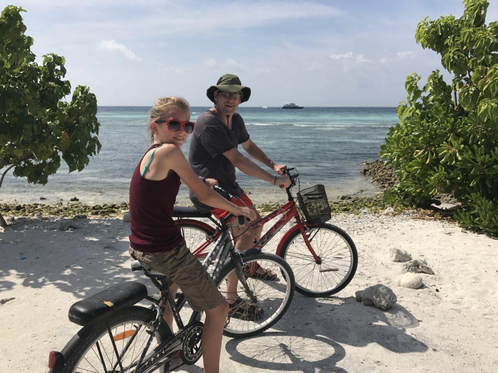 Biking on Maafushi