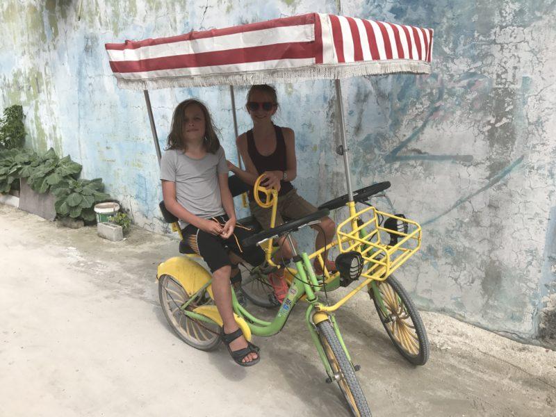 Biking on Maafushi Maldives