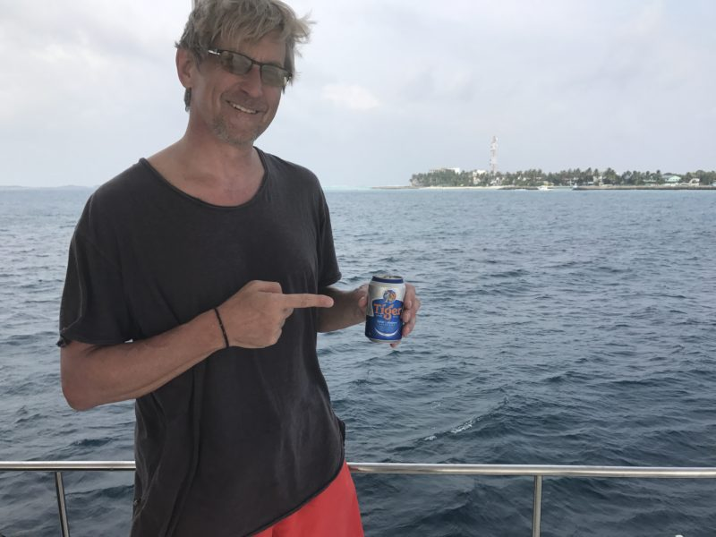 Floating Bar - Beer acquired - Maldives Emotional Gap Analysis