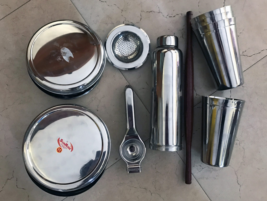 Stainless steel items from India