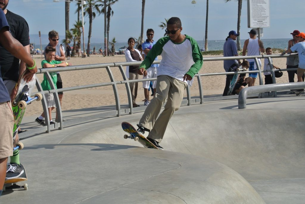 Venice Beach Skate Park - Los Angeles with Older Kids